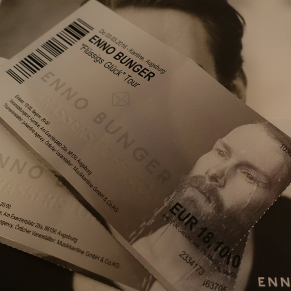 """Enno Bunger - """"Flüssiges Glück"""""""